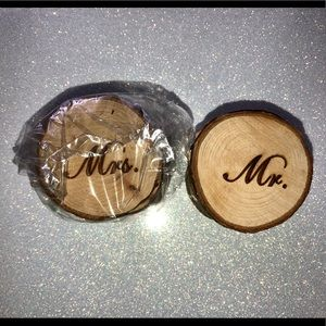Mr. and Mrs. wedding ring boxes